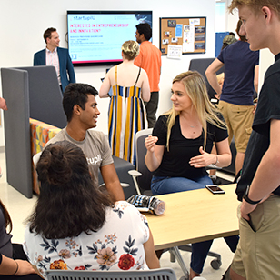 Students packed the Shoemaker Innovation Center to discover all it has to offer.